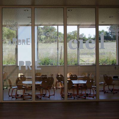Vitrophanie architecture école de Bournazel