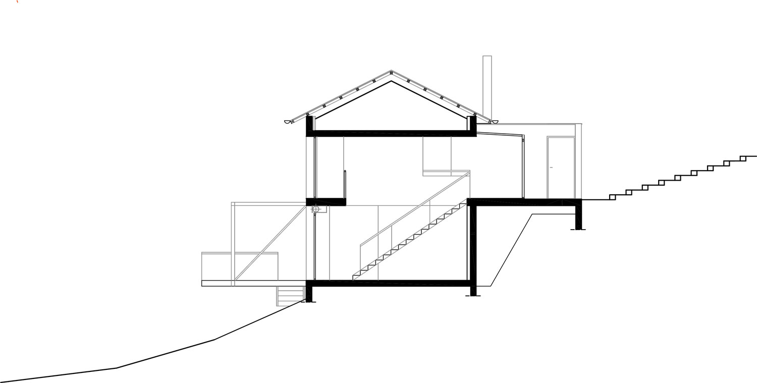 Plan maison en pente architecture maison moderne for Architecte plan maison