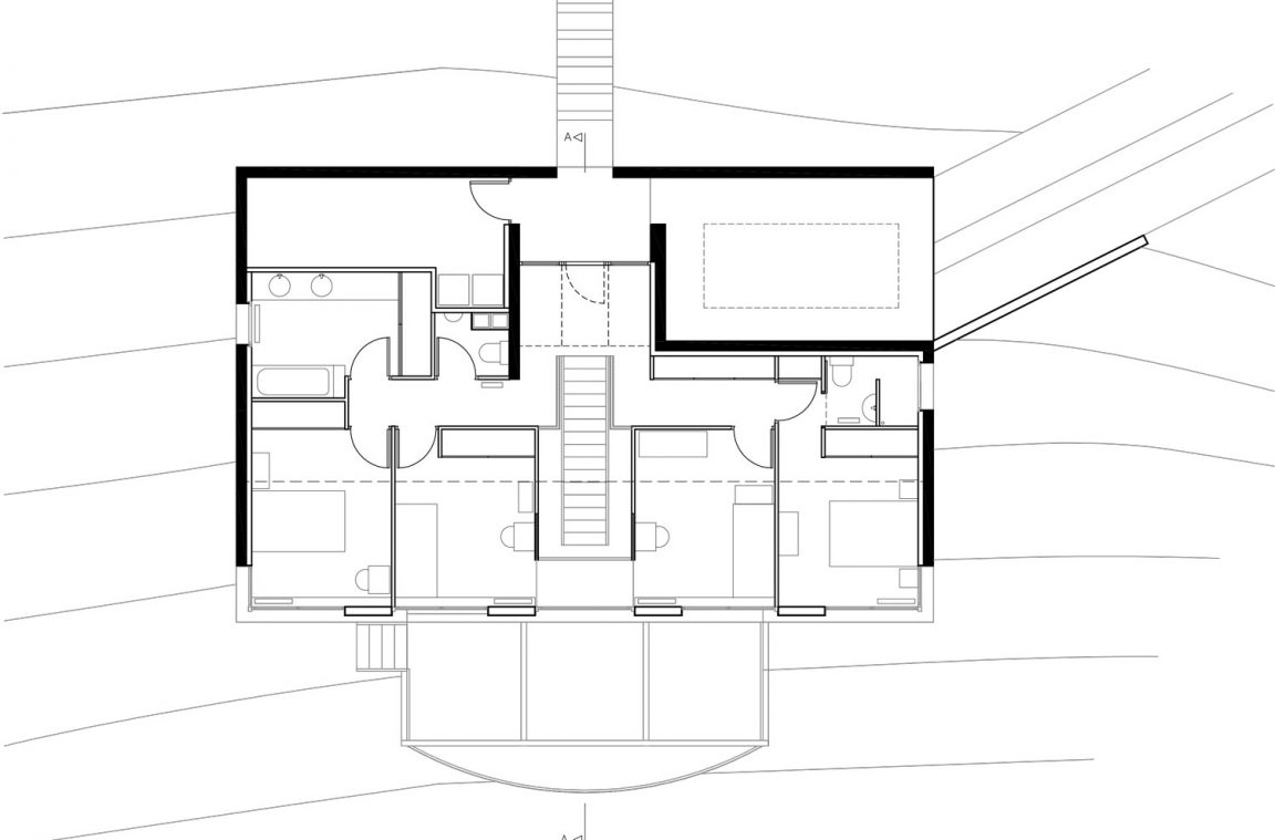 Plan maison architecte dans la pente 2 architecture aveyron for Architecte plan maison