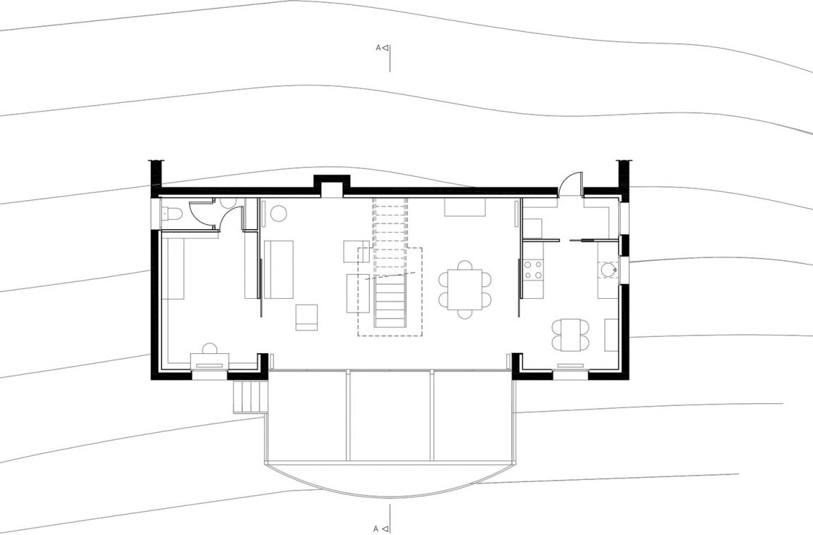 Good plan maison en pente with architecte plan maison for Architecte plan maison
