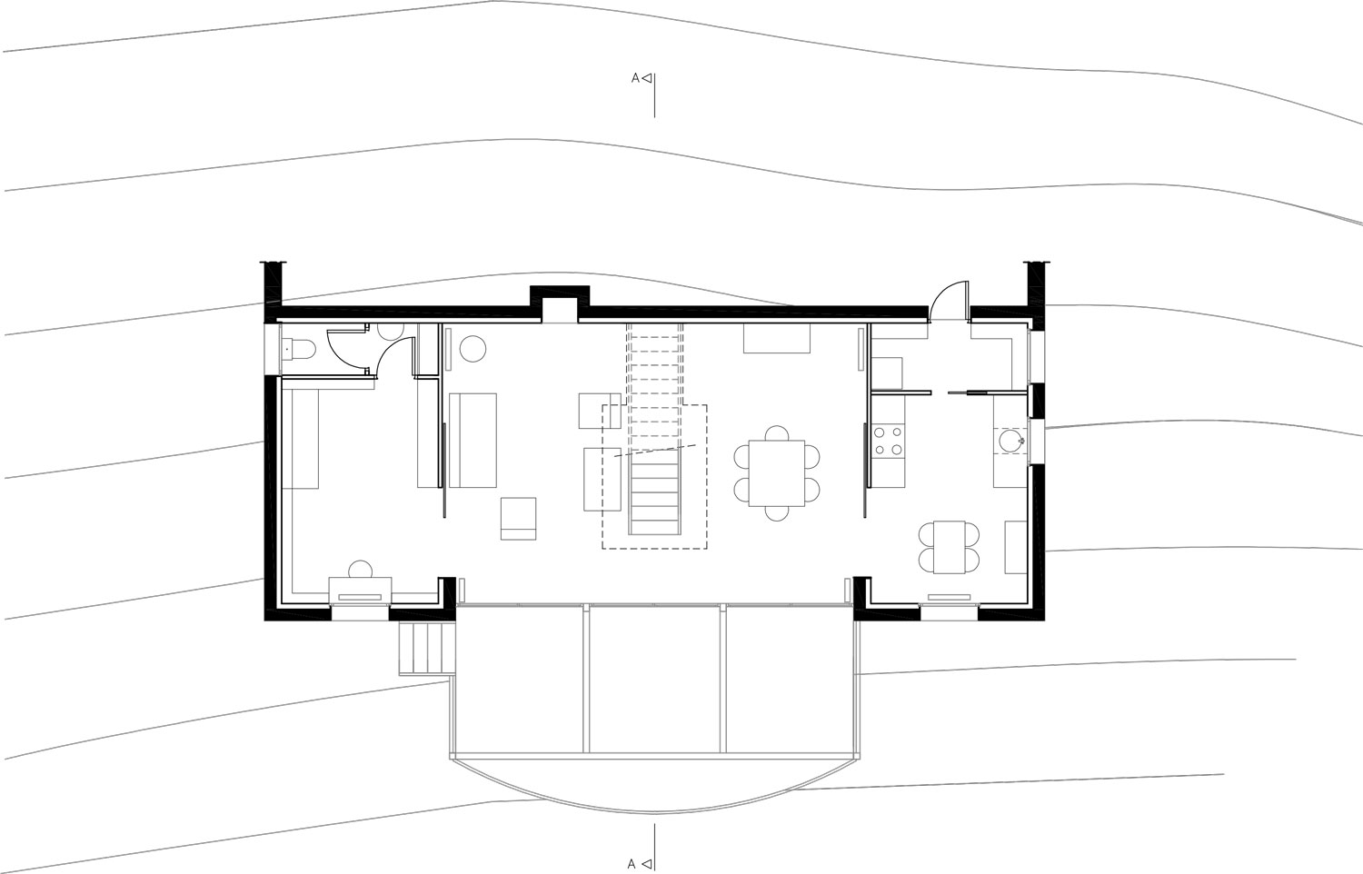 Plan du rez de chausse de la maison with plan maison for Plan architecte maison