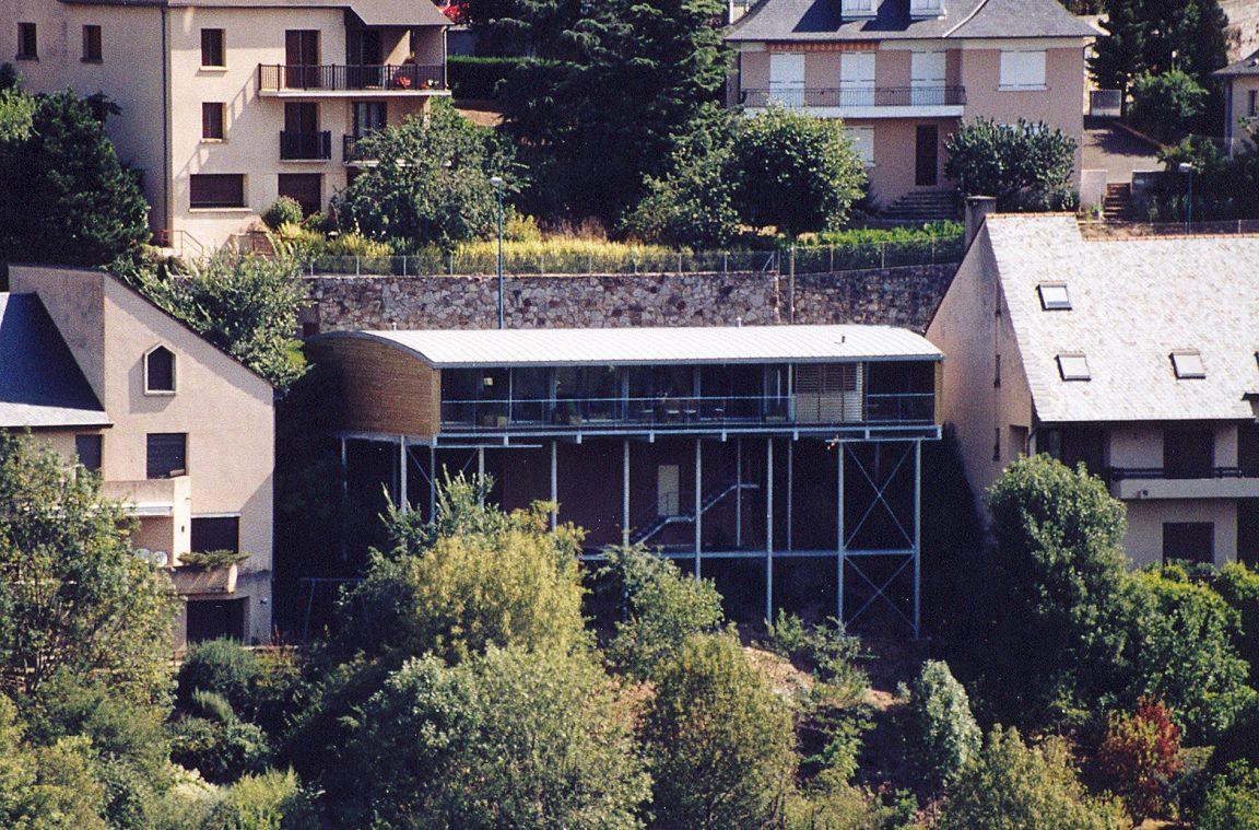 Maison Architecte Construite Pente Pilotis 9
