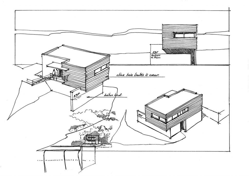 architecture-batiment-industriel-edf-barrage-selve-croquis