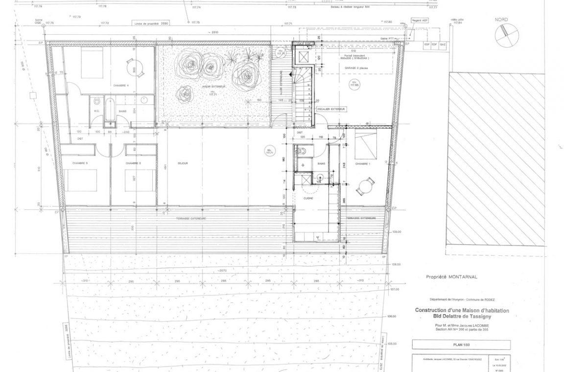 plan-maison-architecte-pilotis-pente   Architecture Aveyron