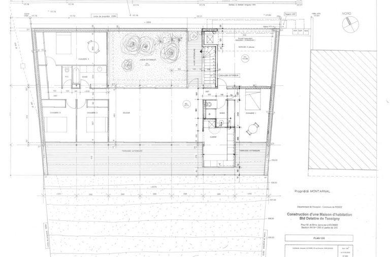 PlanMaisonArchitectePilotisPente  Architecture Aveyron