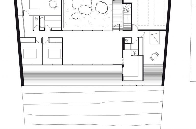 PlanMaisonArchitecteRodezPentePilotis  Architecture Aveyron