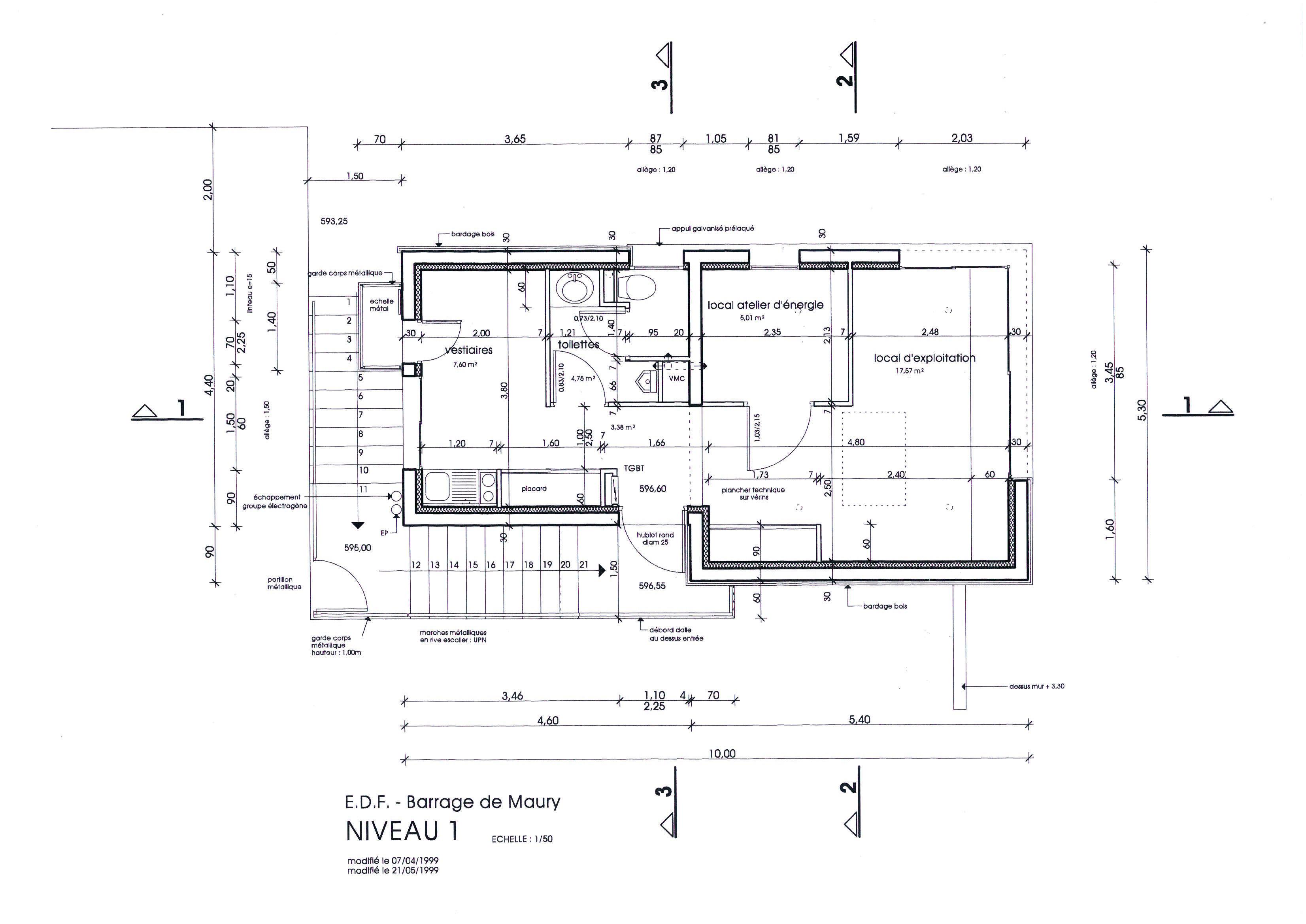 b timent d exploitation du barrage de la selve architecture aveyron. Black Bedroom Furniture Sets. Home Design Ideas