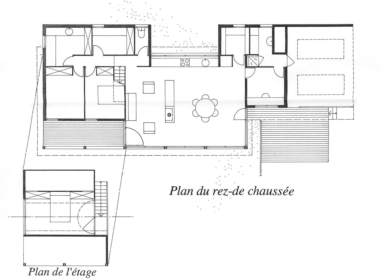 Une maison au bord de la vall e architecture aveyron for Plan de maison architecte